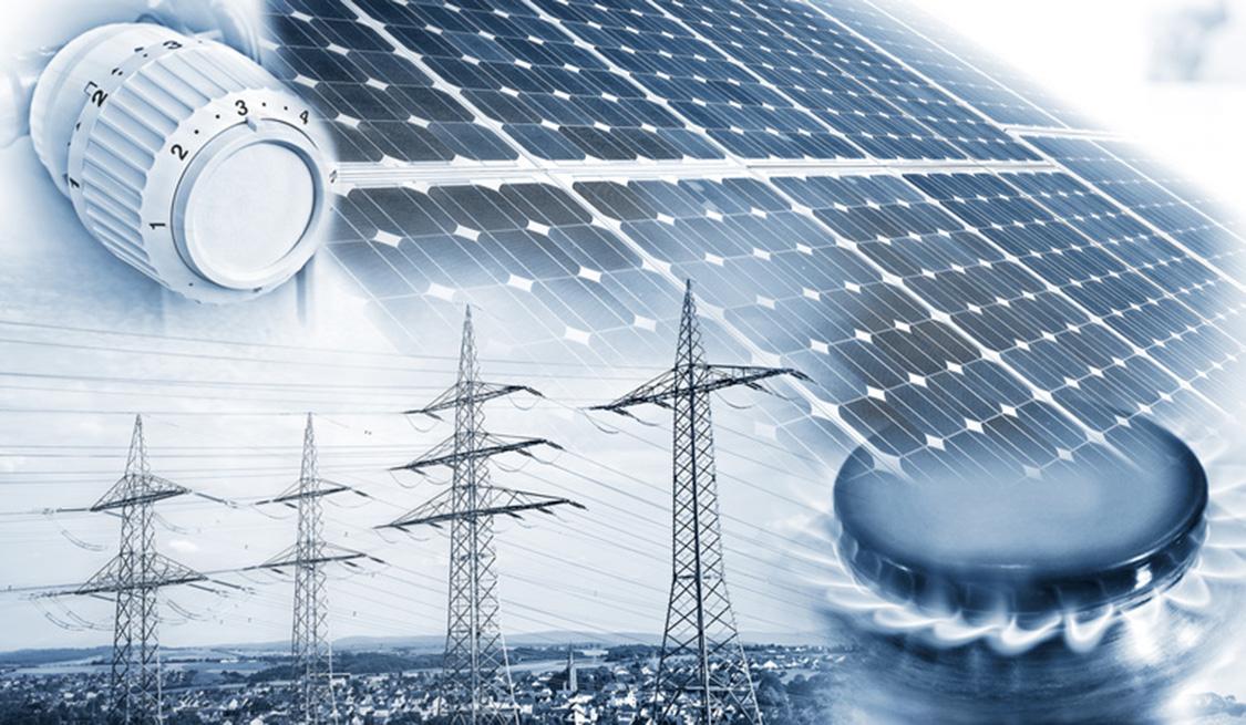 Heizkörper, Gasherd, Solaranlagen und Strommäste stellen die Komponenten der Grundversorgung dar.
