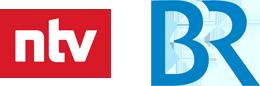 Logo ntv und BR
